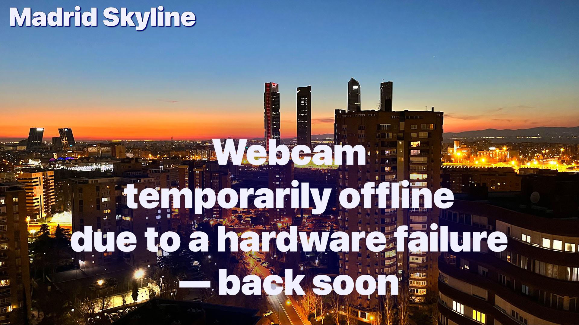 Madrid Skyline High Definition Webcam