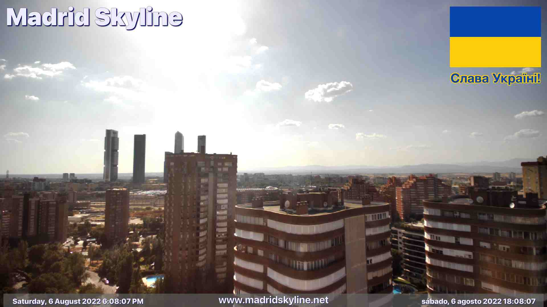 Madrid Live Cam, Spain – Panorama